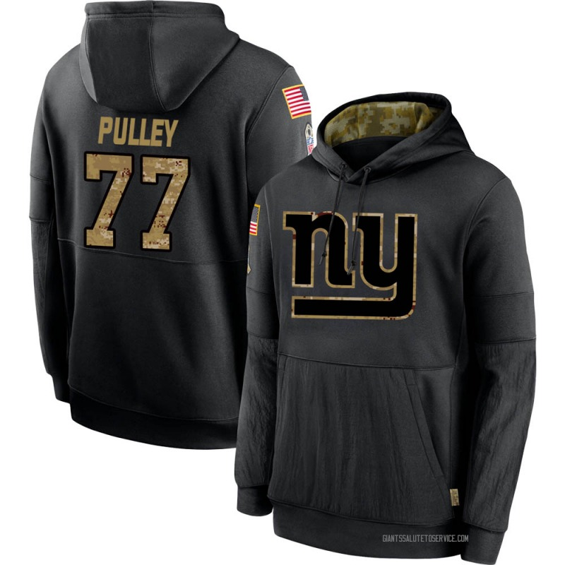 Youth Spencer Pulley New York Giants Black 2020 Salute to Service Sideline Performance Pullover Hoodie